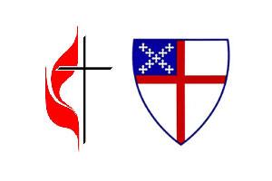 米合同メソジスト教会(UMC)のロゴ(左)と米国聖公会のロゴ