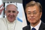 韓国の文大統領、教皇に「南北の仲介」要請