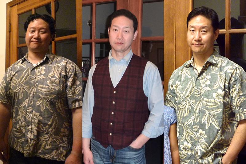 左から2015年9月(88キロ)、16年3月(70キロ)、16年9月(68キロ)
