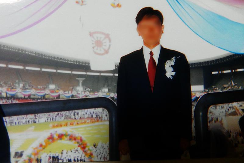Yさんが合同結婚式に臨んだ時の写真