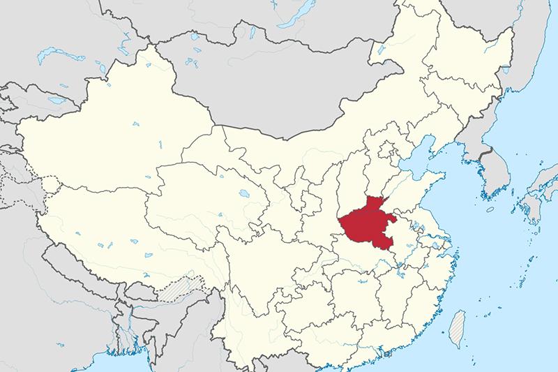 中国河南省(図:TUBS)