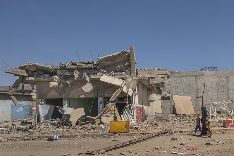 モスル市内の破壊された建物=2017年6月13日(写真:EU / ECHO / Peter Biro)<br />