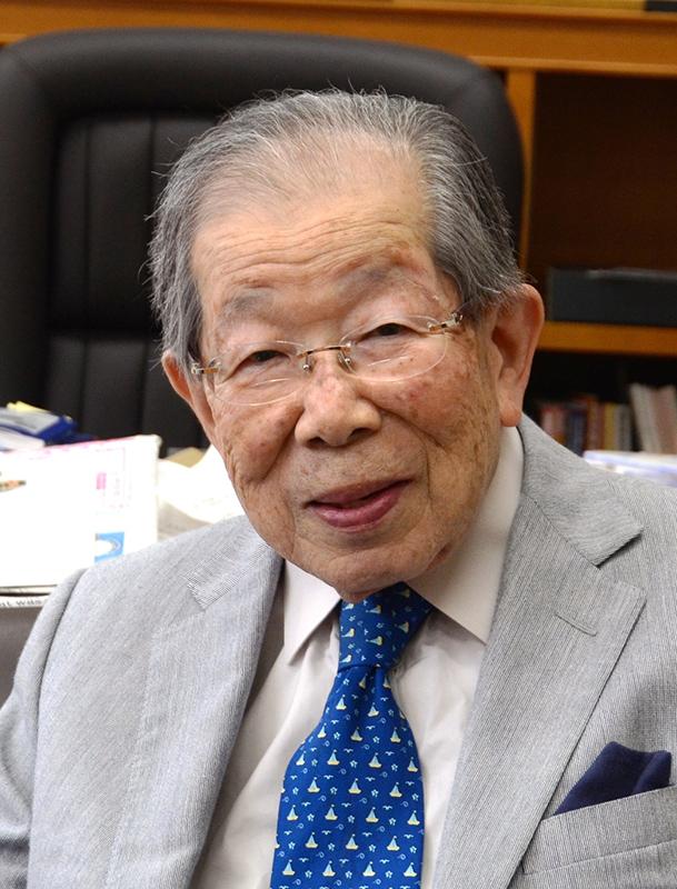 日野原重明さん(写真:聖路加国際大学提供)