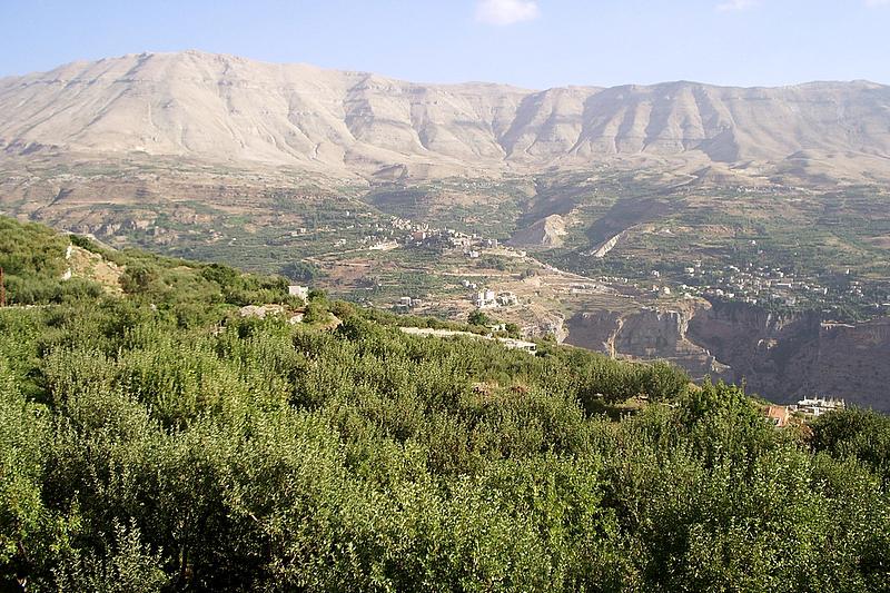 レバノンのカディーシャ渓谷。この地に群生するレバノン杉と共にユネスコの世界文化遺産に登録されている。(写真:Bontenbal)