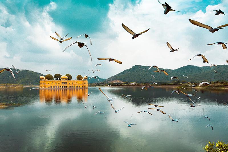 インド北部の都市ジャイプールにあるジャルマハル宮殿(写真:Aditya Siva)