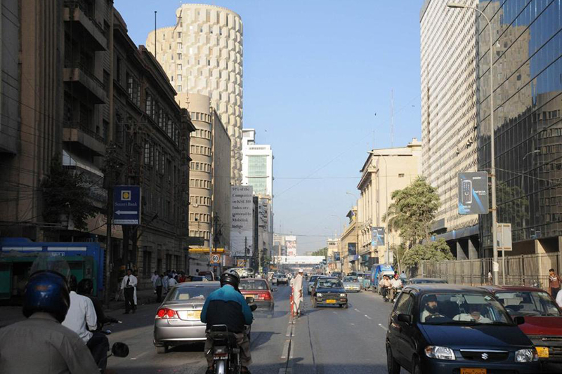 パキスタン最大の都市カラチ市内の様子=2008年(写真:Rahib ALi)