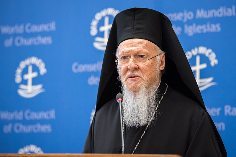 全地総主教バルソロメオス1世(写真:世界教会協議会=WCC / Albin Hillert)