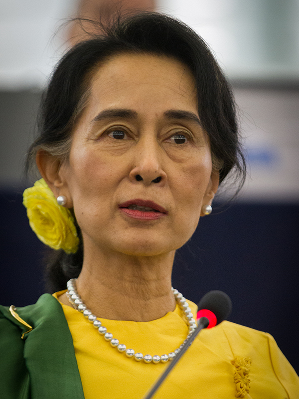 ミャンマーのアウン・サン・スー・チー国家顧問(写真:Claude TRUONG-NGOC)