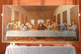 教会がレゴ7万8千個で「最後の晩餐」 子ども約70人が参加