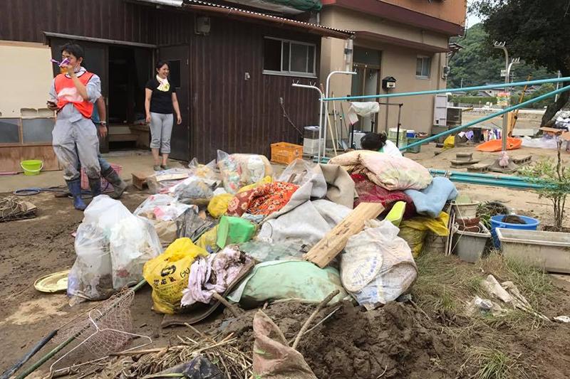 台風18号被害の大分県津久見市でも支援活動 九州キリスト災害支援センター