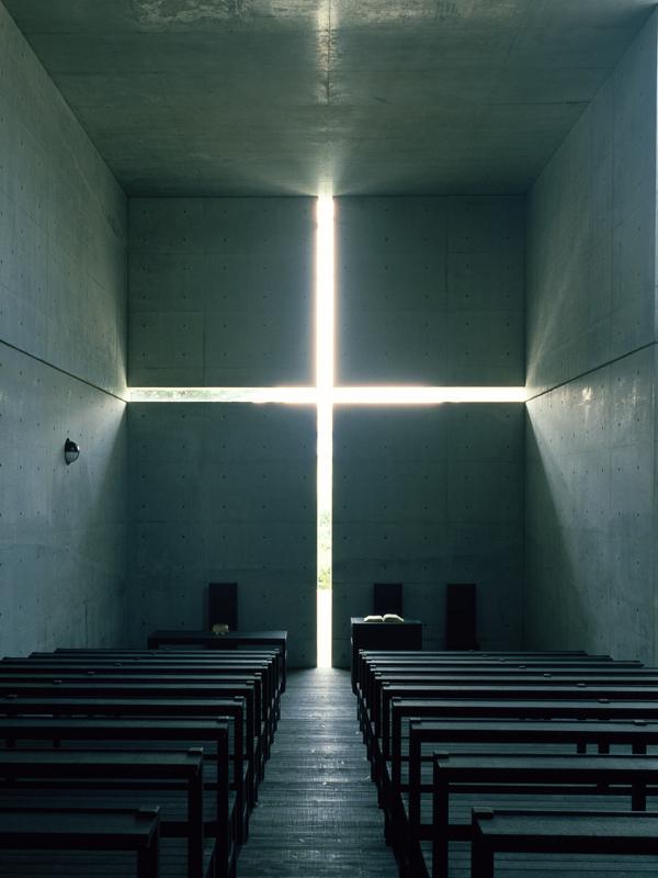 光の教会(1989年、大阪府茨木市)撮影:松岡満男<br />