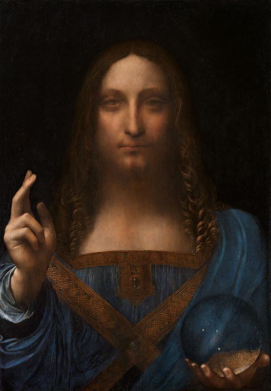 レオナルド・ダビンチ作「サルバトール・ムンディ」(1500年ごろ、油彩)
