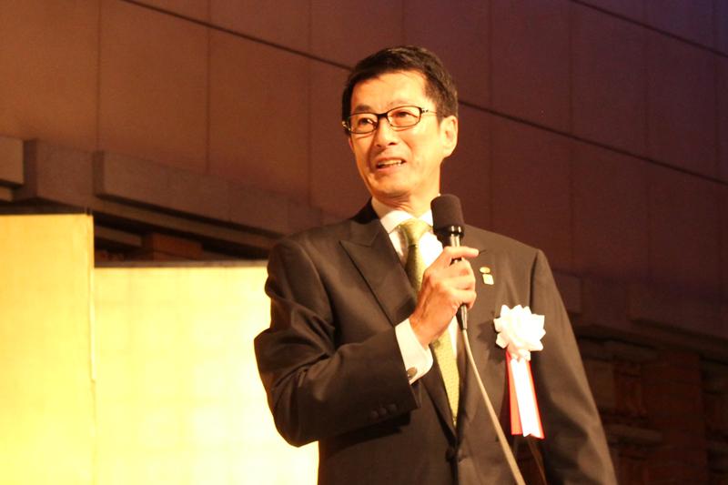 創立30周年を迎えたアチーブメントの青木仁志社長=12日、帝国ホテル(東京都千代田区)で