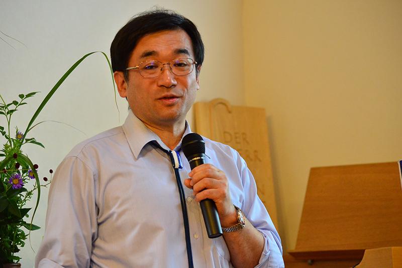 講演する宇田川さん=15日、日本同盟基督教団新船橋キリスト教会(千葉県船橋市)で