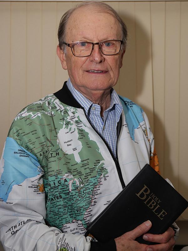 国際宣教団体「OM」の創設者であるジョージ・バウワー氏(写真:キリスト教リソース見本市=CRE)