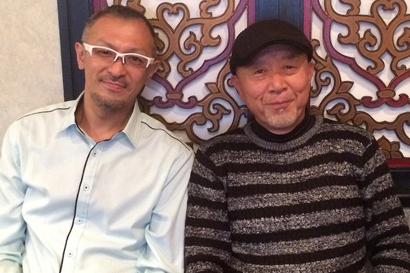 進藤達也牧師(左)と鈴木啓之牧師。忙しいスケジュールを縫って対談が実現した。