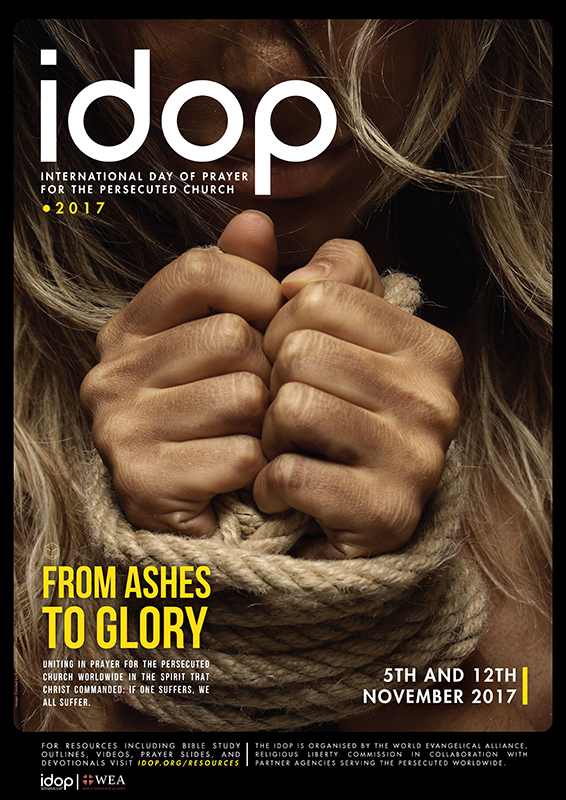 今年の「迫害下の教会のために祈る国際祈祷日」(IDOP)のポスター