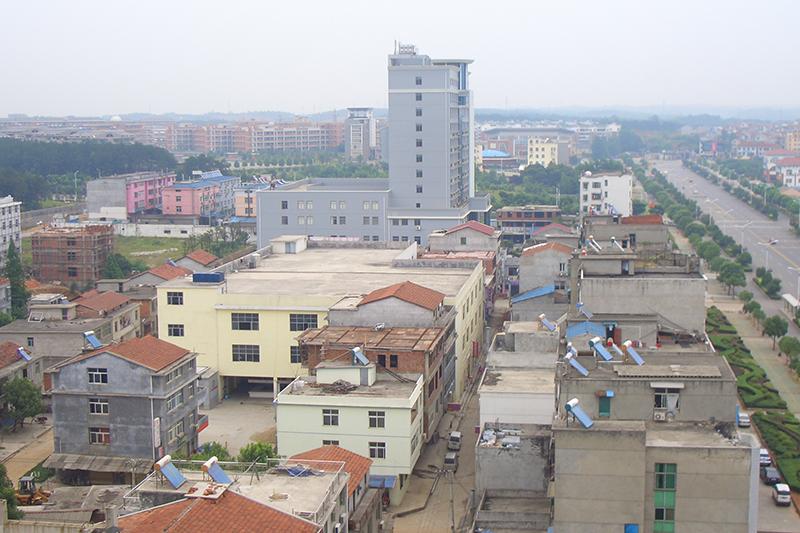 中国湖北省咸寧(かんねい)市内の様子=2009年(写真:12321Peter)