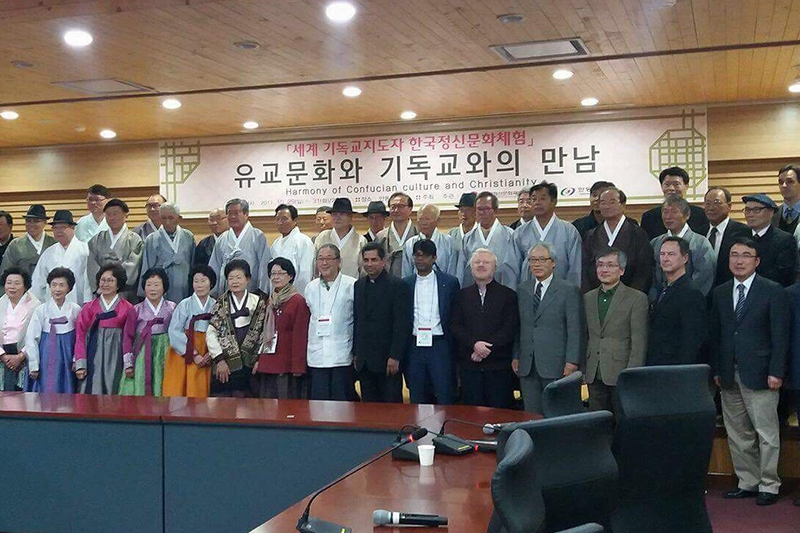 世界教会協議会(WCC)が初めて開催したキリスト教と儒教の宗教間対話集会=10月27日、韓国ソウルで(写真:WCC)
