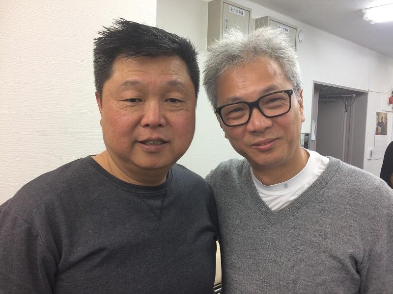 刑務所伝道の証しをしたピーター牧師とジョンさん(19日 横浜市神奈川区)