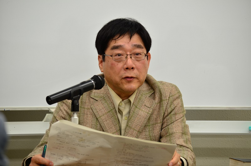 講演をする黒川知文さん=10月21日・横浜YWCA(横浜市中区)で