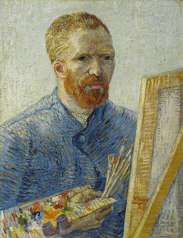 フィンセント・ファン・ゴッホ「画家としての自画像」1887/88年、ファン・ゴッホ美術館(フィンセント・ファン・ゴッホ財団)蔵 ©Van Gogh Museum, Amsterdam (Vincent van Gogh Foundation)