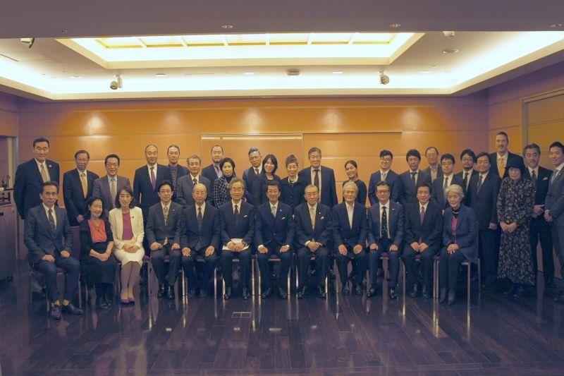 日本CBMCビジョンミーティングに参加した会員=11月27日、東京アメリカンクラブ(港区麻布台)で