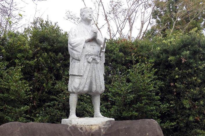 原城跡の天草四郎像