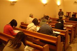 東京で行われたGDOPの祈祷会=11日、東京都新宿区の東京中央教会で