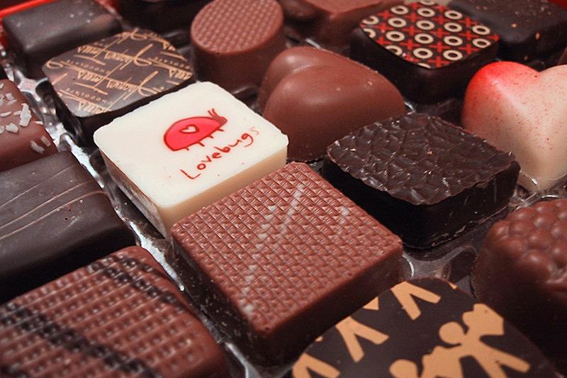 バレンタインデー用のチョコレート(写真:John Hritz)