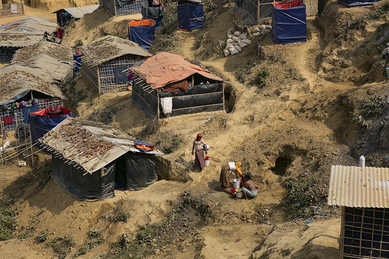 バングラデシュのロヒンギャ難民キャンプ=2月1日(写真:UN Women/Allison Joyce)