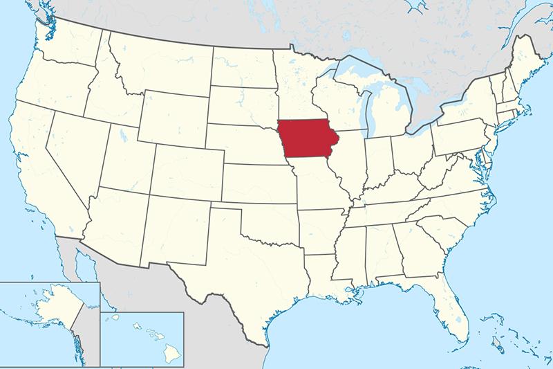 アイオワ州の位置(画像:TUBS)