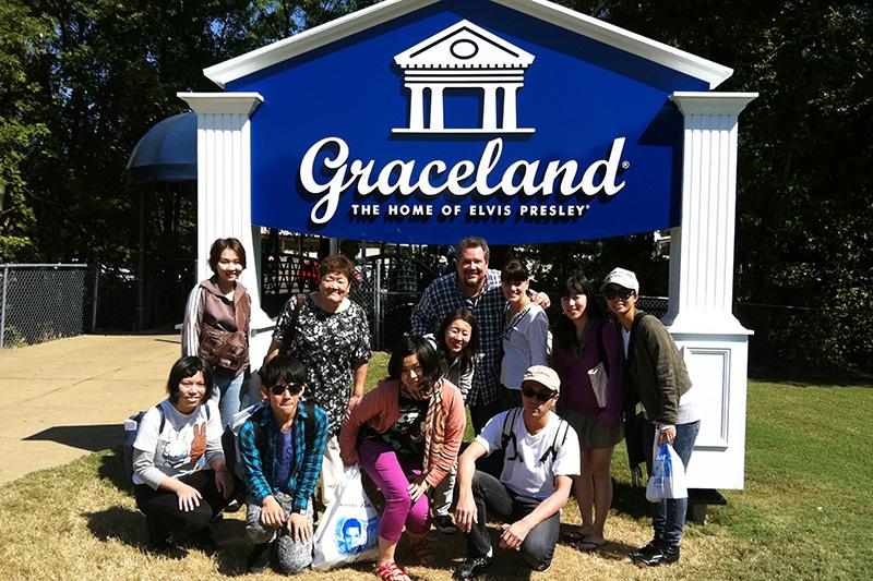 エルビス・プレスリーの家があった場所に建設された「グレイスランド」で