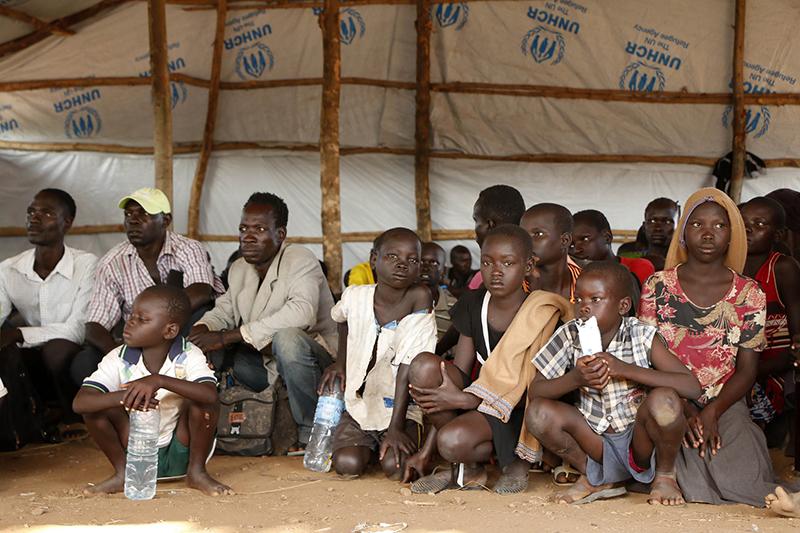 ウガンダ北西部のビディビディ難民居住地の様子=2016年9月7日(写真:ウガンダ赤十字気候センター / Denis Onyodi)