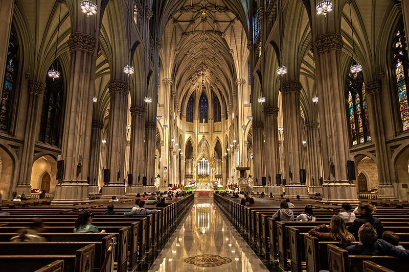 ニューヨーク大司教区の大司教座であるセント・パトリック大聖堂の内部(写真:Mattia Panciroli)