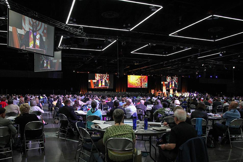 2016年に開催された合同メソジスト教会(UMC)の総会の様子(写真:総会の特設フェイスブックより)<br />