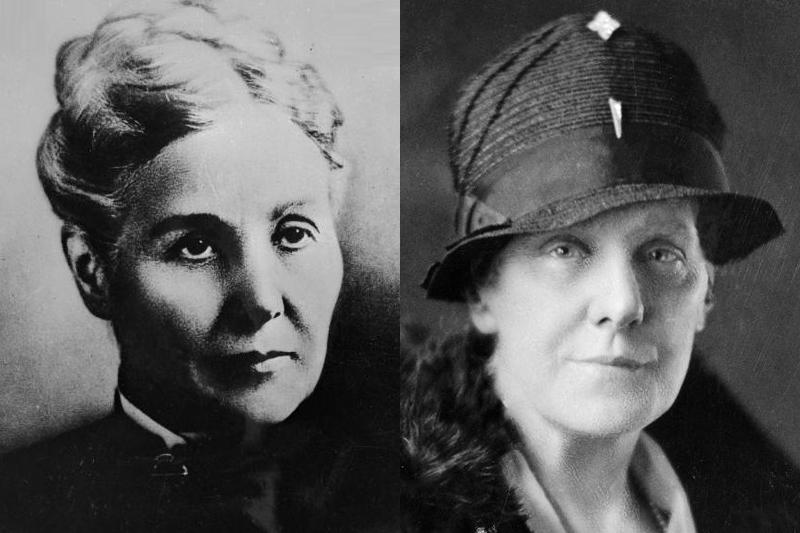 母アン・ジェービス(左)と「母の日」の創設者であるアンナ・ジェービス<br />