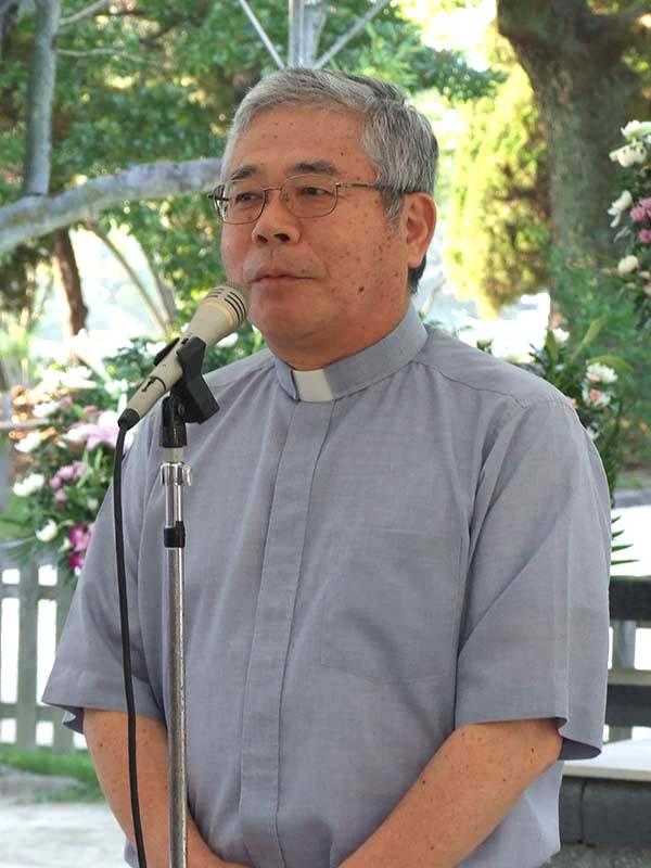 カトリック大阪大司教区の前田万葉大司教=2015年
