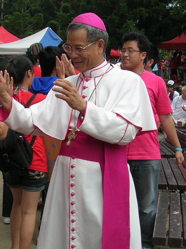 洪山川(こう・さんせい)台北大司教=2008年(写真:Bigmorr)