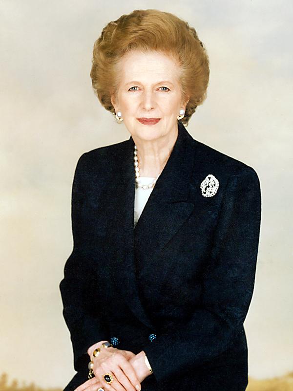 マーガレット・サッチャー(写真:Chris Collins of the Margaret Thatcher Foundation)