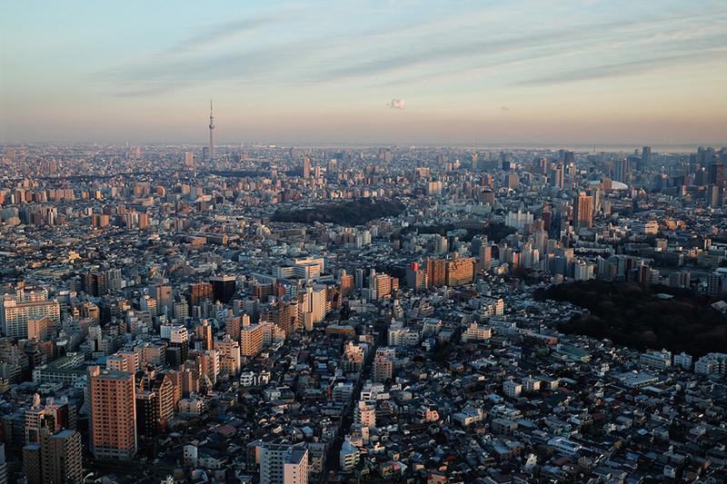 池袋のサンシャインシティ60階から見た東京都心=2014年(写真:James Justin)