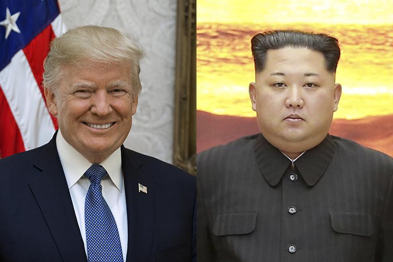12日にシンガポールで会談する米国のドナルド・トランプ大統領(左、写真:Shealah Craighead/White House)と、北朝鮮の金正恩(キム・ジョンウン)朝鮮労働党委員長(写真:Blue House/Republic of Korea)
