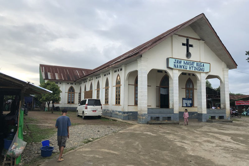 ミャンマー北部カチン州にある教会。同州には、9割以上がキリスト教徒だという少数民族のカチン族が住んでいる。(写真:ボブ・ロバーツ氏)