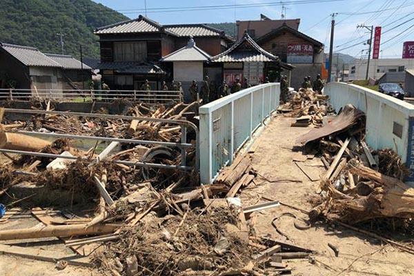 広島県呉市安浦町の被災状況(写真:日本国際飢餓対策機構)