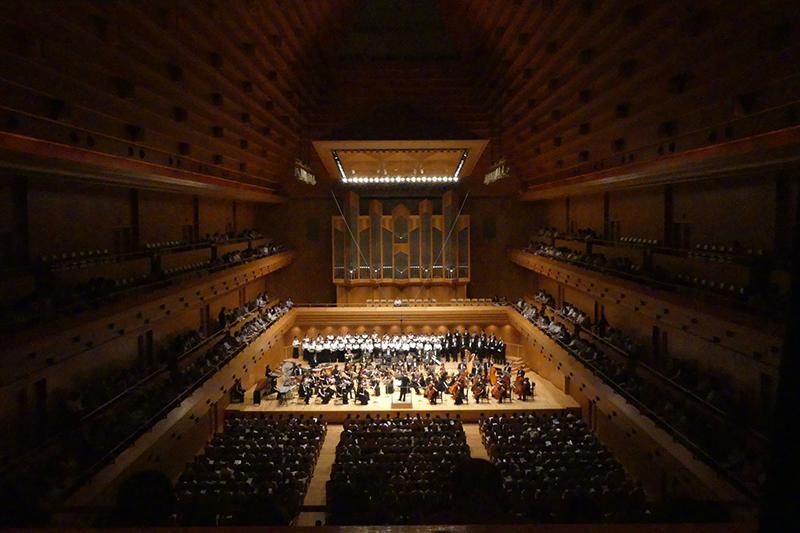ユーオーディアの設立30周年を記念する「賛美の夕べ」=3日、東京オペラシティ・コンサートホール「タケミツメモリアル」(東京都新宿区)で(写真:ユーオーディア提供)