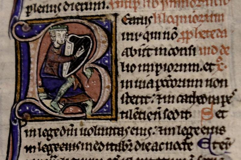 きれいな技巧が凝らされた「レイフィールド聖書(Lyghfield Bible)」(写真:カンタベリー大聖堂)