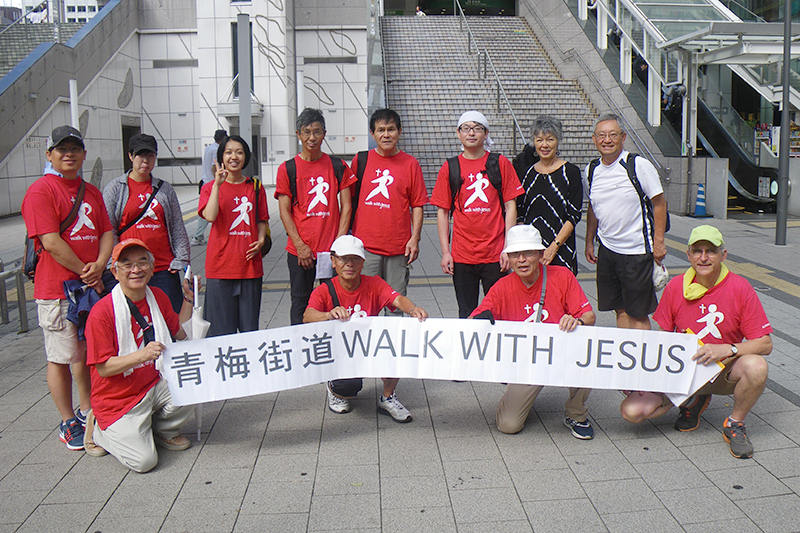 今年の「ウォーク・ウィズ・ジーザス」(WWJ)の参加者(写真:総動員伝道提供)