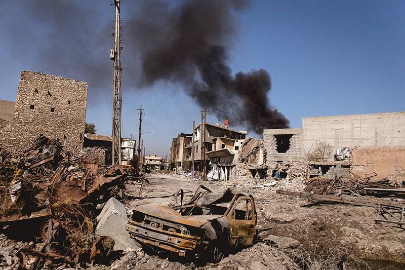 過激派組織「イスラム国」(IS)に長い間支配されていたイラク北部の都市モスルの様子=2017年3月27日(写真:Quentin Bruno)