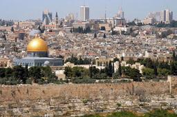 オリーブ山から見たエルサレム市街地