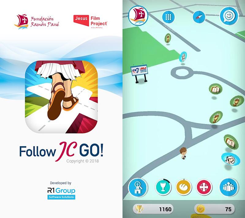 無料ゲームアプリ「フォローJC・GO!」の画面サンプル(画像:グーグルプレイより)